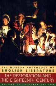 The Restoration and the Eighteenth Century (Norton Anthology of English Literature, Vol 1)