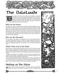 The Dalelands (AD&D/Forgotten Realms Accessory FRS1)