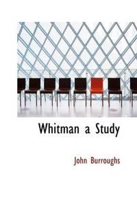 image of Whitman a Study