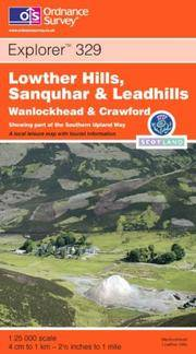image of Lowther Hills, Sanquhar and Leadhills: Wanlockhead and Crawford (Explorer S.)