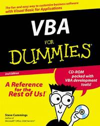 VBA For Dummies (For Dummies Series)