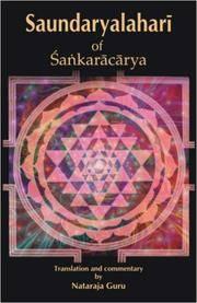 Saundaryalahari of Snakaracarya: (The Upsurging Billow of Beauty) by Nataraja Guru - Hardcover - 2nd edition - 2008 - from Sanctum Books and Biblio.com