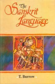 The Sanskrit Language by T. Burrow - Hardcover - from Bonita (SKU: 8120817672.G)