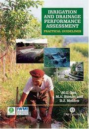 Irrigation and Drainage Performance Assessment: Practical Guidelines (Cabi)