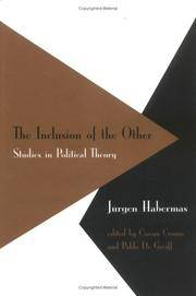 The Inclusion of the Other:   Studies in Political Theory