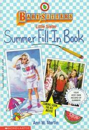 image of Babysitters Little Sister: Summer Fill-In