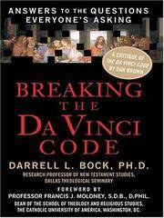 image of Breaking the Da Vinci Code : Answers to the Questions Everyone's Asking