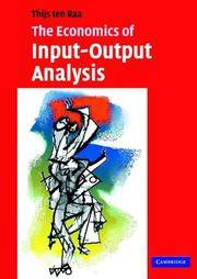 The Economics of Input-Output Analysis