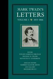 Mark Twain's Letters, Volume 1  1853-1866