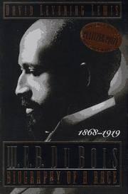 W E B Du Bois, 1868-1919