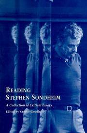 Reading Stephen Sondheim: A Collection of Critical Essays (Studies in Modern Drama)