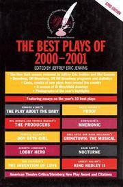 The Best Plays of 2000-2001 (Theater Yearbook: The Best Plays of...Ser., Vol. 82)