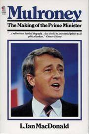 Mulroney  The Making of the Prime Minister