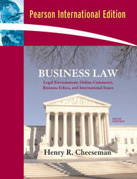 image of Business Law : International Edition