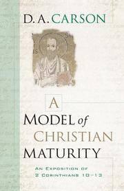 Model Of Christian Maturity A