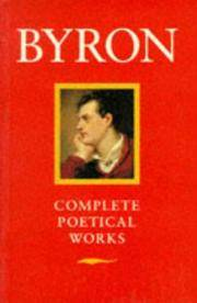 Byron: Poetical Works by  Lord ; edited by Frederick Page Byron - Paperback - 1979 - from Brimstones and Biblio.com