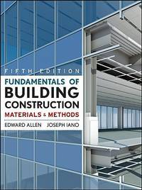 image of Fundamentals of Building Construction: Materials and Methods, 5th Edition by Allen, Edward; Iano, Joseph