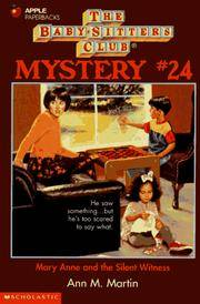 image of Mary Anne and the Silent Witness (Baby-Sitters Club Mystery, No. 24)