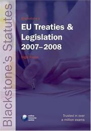 EU Treaties and Legislation  Blackstone  Statute