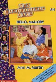 Hello, Mallory (The Baby-Sitters Club, No. 14) by  Ann M Martin - from HawkingBooks and Biblio.com