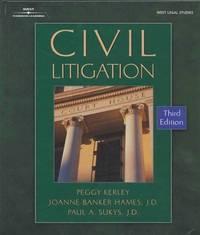 Civil Litigation (West Legal Studies)