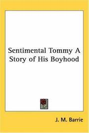 image of Sentimental Tommy A Story of His Boyhood