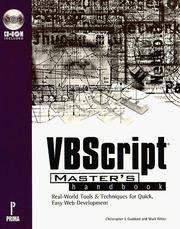 Vbscript Master's Handbook: Master's Handbook