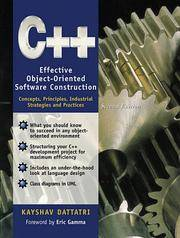 C++: Effective Object-Oriented Software Construction : Concepts, Principles, Industrial...