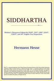 image of Siddhartha (Webster's Thesaurus Edition)