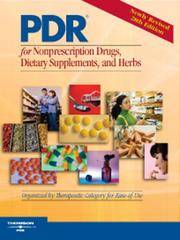2007 PDR for Nonprescription Drugs, Dietary Supplements and Herbs: The Definitive Guide to OTC...