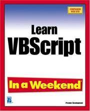 Learn Microsoft Vbscript In a Weekend
