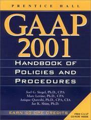 GAAP Handbook of Policies and Procedures by Joel G. Siegel - Paperback - from BOOK POINT PTE LTD (SKU: BK 0027819 JB DB)