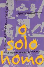 O Solo Homo: The New Queer Performance