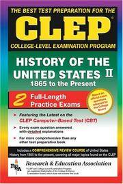 CLEP History of the United States II, 1865 to the present (REA) - The Best Test Prep for the CLEP...