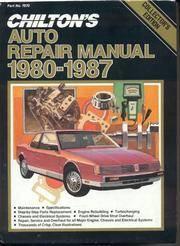 CHILTON'S AUTO REPAIR MANUAL 1980-1987