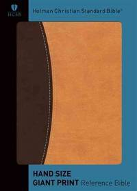 HCSB Hand Size Giant Print Reference Bible, Dark/Light Brown Simulated Leather