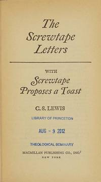 image of The Screwtape Letters: How a Senior Devil Instructs a Junior Devil in the Art of Temptation