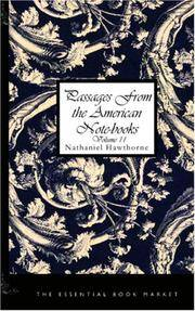 image of Passages from the American Notebooks, Volume 2