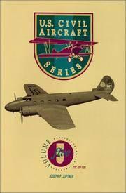 image of U.S. CIVIL AIRCRAFT: V. 5 (U. S. CIVIL AIRCRAFT SERIES