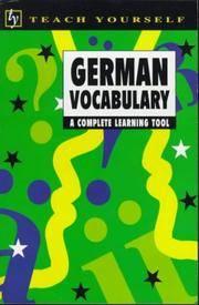German Vocabulary (Teach Yourself)