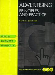Advertising: Principles and Practice by  William D Wells - Hardcover - 1999-12-08 - from HALCYON BOOKS (SKU: mon0000747502)