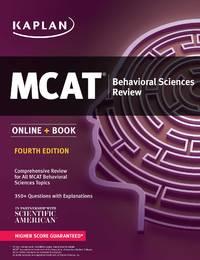 MCAT Behavioral Sciences Review 2018-2019: Online + Book (Kaplan Test Prep)