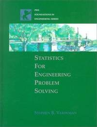 Statistics for Engineering Problem Solving by Stephen B. Vardeman - Hardcover - 1993 - from ThriftBooks and Biblio.co.uk
