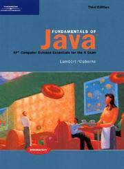 Fundamentals of Java: Introductory