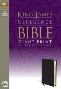KJV, Reference Bible, Giant Print, Imitation Leather, Black, Red Letter Edition