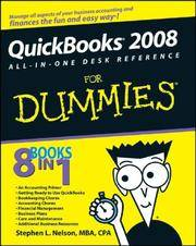Quickbooks 2008: All-In-One Desk Reference for Dummies