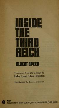 Inside the Third Reich by Albert Speer - 1971-07-04 - from Books Express and Biblio.com