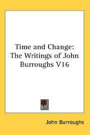 image of Time and Change: The Writings of John Burroughs V16