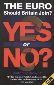 image of The Euro, The: Yes or No?