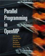 Parallel Programming in OpenMP by  Jeff  Dror; McDonald - Paperback - 2000-10-16 - from BooksEntirely and Biblio.com